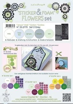 Image de Sticker &  Foam de fleurs assortiment  2 gris