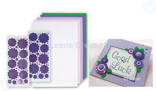 Picture of Sticker &  Foam Flowers Set 1 Violet