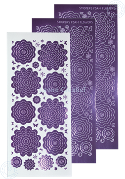 Bild von Nested Flower Sticker mirror violet