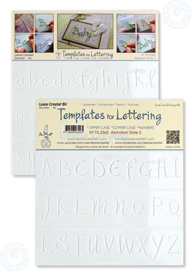 Bild von 2 Schablone für Handlettering Alphabet 2, Großbuchstaben + Kleinbuchstaben + Ziffer
