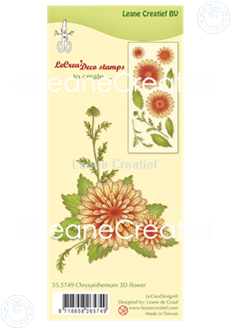 Afbeeldingen van Clear stamp 3D Flower Chrysanthemum