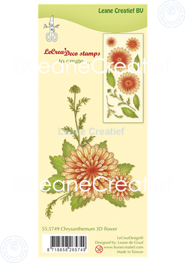 Picture of Clear stamp 3D flower Chrysanthemum