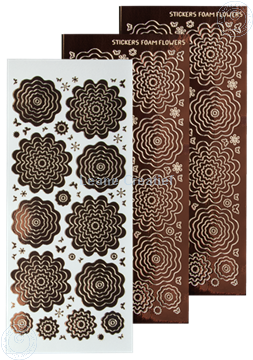 Bild von Nested Flower Sticker mirror brown