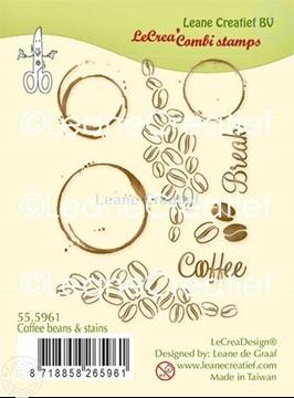 Image de LeCreaDesign® combi tampon clair Grains de café