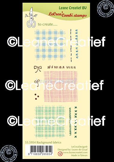 Afbeelding van LeCreaDesign® clear stamp Stof - Textiel achtergrond