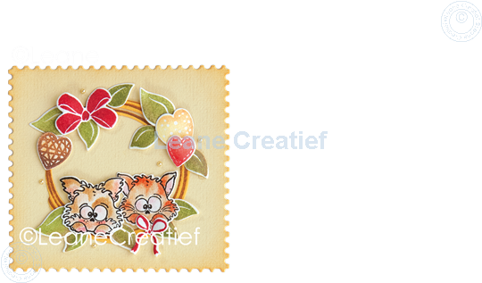 Afbeelding van Set Stamp & Contour Die Wreath X-mas