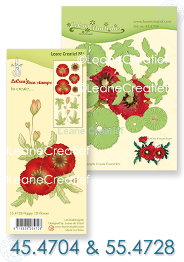 Picture of Set Multi Die & Clearstamp Poppy