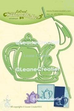 Afbeeldingen van Lea'bilitie® Koffietijd  silhouette snij en embossing mal