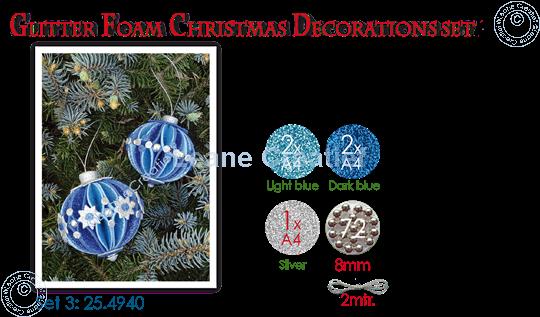 Image sur Glitter Foam Boule de Noël décoration Set 3