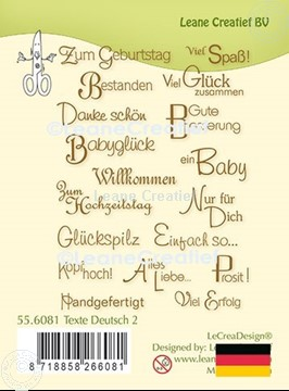 Picture of LeCreaDesign® clear stamp Texte  German 2.
