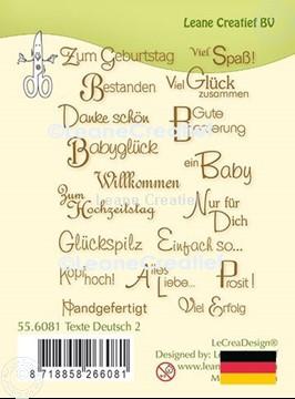 Afbeeldingen van LeCreaDesign® clear stamp Teksten  Duits 2.