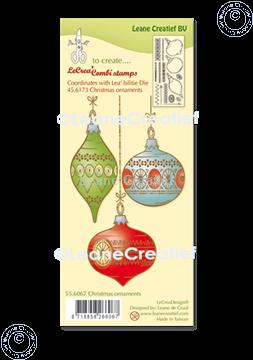 Afbeeldingen van LeCreaDesign® combi clear stamp Kerst ornamenten