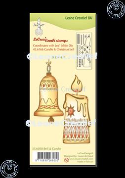 Afbeeldingen van LeCreaDesign® combi clear stamp Kerstbel & Kaars