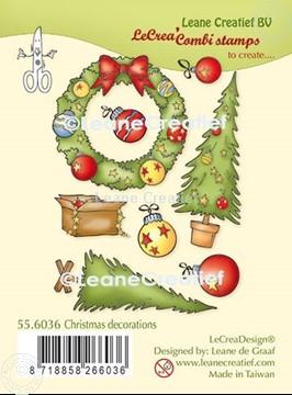 Afbeeldingen van LeCreaDesign® combi clear stamp Kerst decoraties