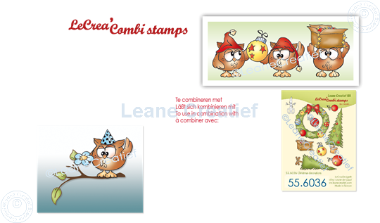 Picture of LeCreaDesign® combi clear stamp Owly, special occasions