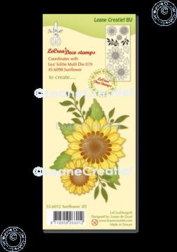 Afbeeldingen van LeCreaDesign® deco clear stamp Zonnebloem 3D