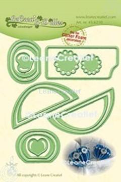 Picture of Lea'bilitie® Glitter Foam decoration Heart smooth cutting die