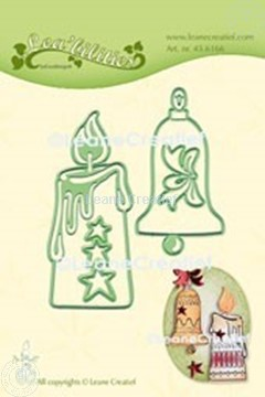 Picture of Lea'bilitie® Candle & Christmas bell cut and embossing die