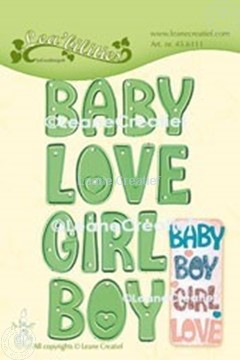 Picture of Lea'bilitie® Words  Baby, Boy, Girl, Love cutting die