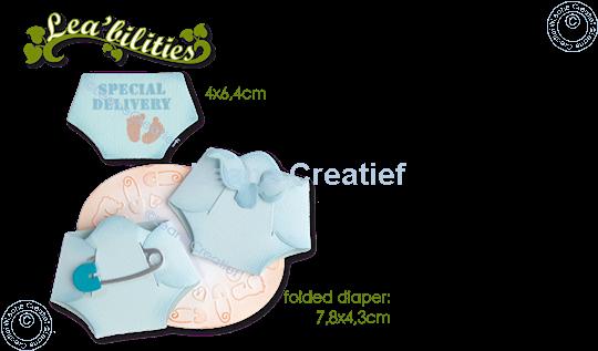 Image sur Lea'bilitie® Baby couche matrice pour découper & gaufrage