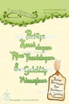 Picture of Lea'bilitie® Sentiments Dutch Christmas words cutting die