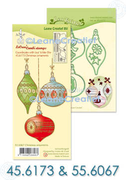 Picture of Set Lea'bilitie & Clearstamp Christmas ornaments