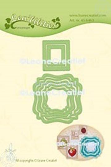 Bild von Lea'bilitie® Rahmen swirl & Briefmarken  Präge- und Schneideschablone