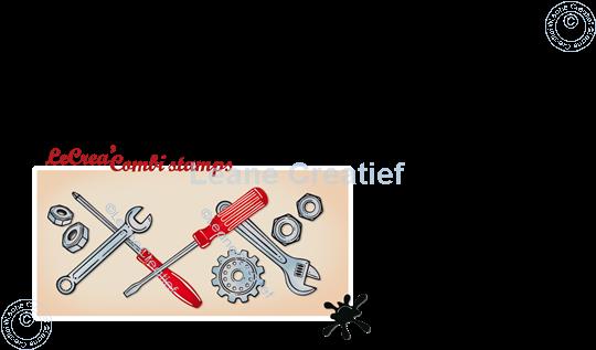 Image sur LeCreaDesign® combi tampon clair Outil