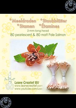 Afbeeldingen van Meeldraden 2mm,  80 matt & 80 pearl Pale salmon