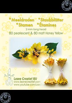 Afbeeldingen van Meeldraden 2mm,  80 matt & 80 pearl Honey yellow