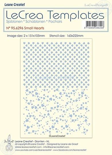 Picture of Stencil Small hearts