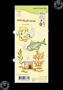 Picture of LeCreaDesign® combi clear stamp Fish 2.