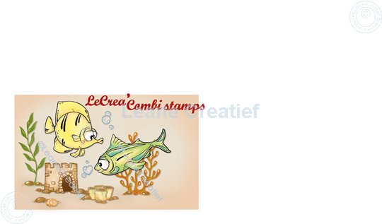 Picture of LeCreaDesign® combi clear stamp Fish 1.