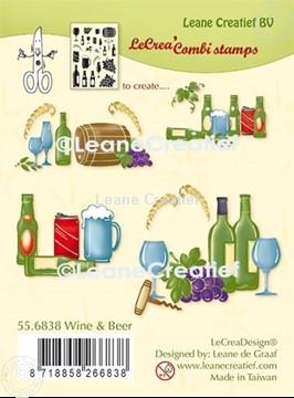 Bild von LeCreaDesign® Kombi Silikon Stempel Wein und Bier