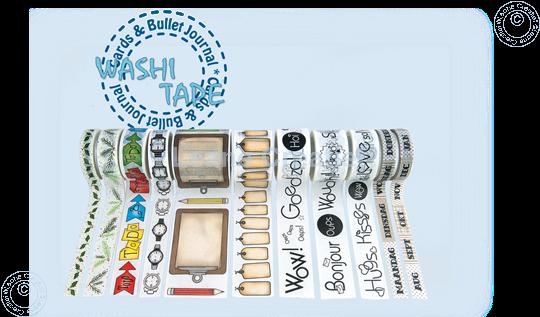 Bild von Washi tape Uhr & Alarm, 15mm x 5m.