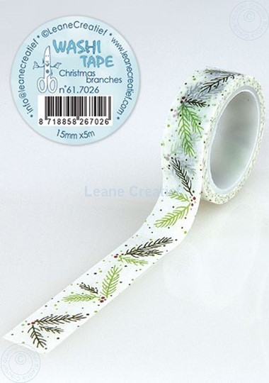 Picture of Washi tape Christmas branches, 15mm x 5m.