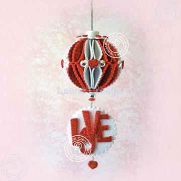 """Bild von Glitter foam ball 'Love"""""""