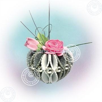 Bild von Glitter foam Heart with rose