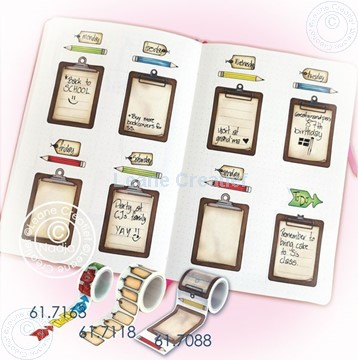 Picture of BJ Washi tape clipboard page