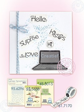 Image de Laptop with Washi text