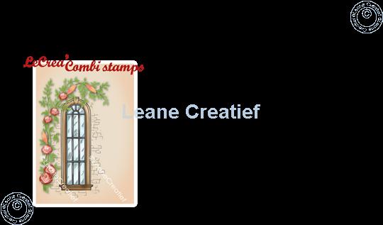 Afbeelding van LeCreaDesign® combi clear stamp Raamkozijn met klimplant