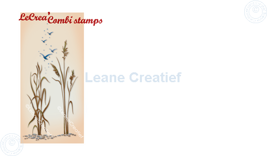 Picture of LeCreaDesign® combi clear stamp Waterside & reed