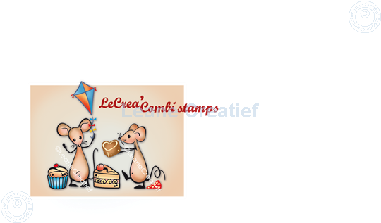 Picture of LeCreaDesign® combi clear stamp Mice party