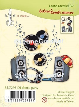 Afbeeldingen van LeCreaDesign® combi clear stamp DJ dance party