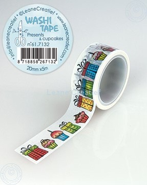 Picture of Washi tape Present & cupcakes, 20mm x5m.