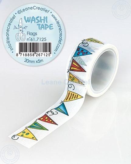 Afbeelding van Washi tape Vlaggetjes, 20mm x 5m.