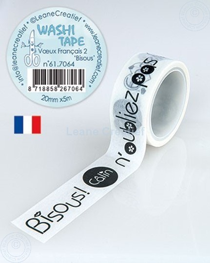 Picture of Washi tape French words, 20mm x 5m.