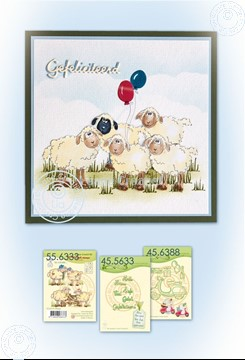 Bild von Card with sheep