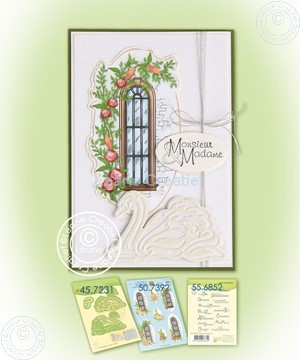 Picture of Swans & decoration sheet