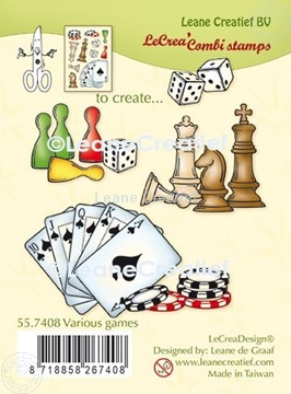 Picture of LeCreaDesign® combi clear stamp Various games